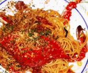 ワタリガニのトマトクリームソース